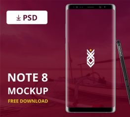 Galaxy Note 8 PSD Mockup Free Download