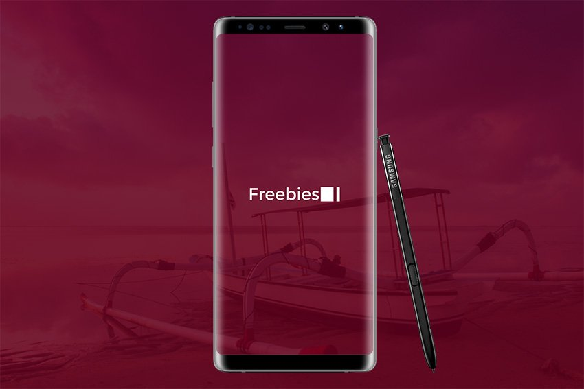 Galaxy Note 8 Free Mockup - PSD Download