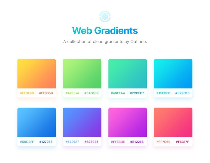8 Free Simple Web Gradients for Sketch and PSD - A collection of clean gradients