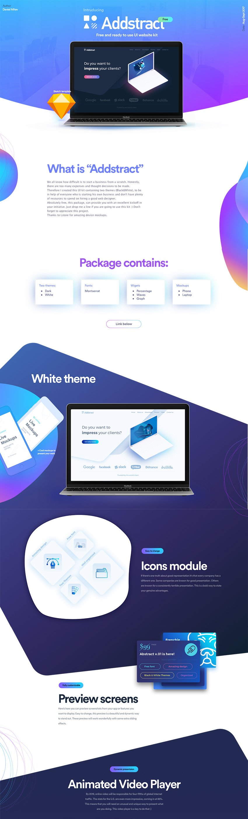 Addstract Free Web UI Kit 1 for Web Designers