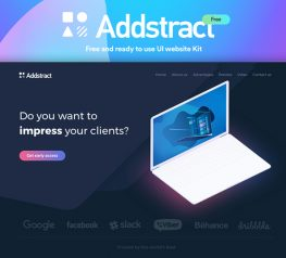 Addstract Free Web UI Kit for Sketch