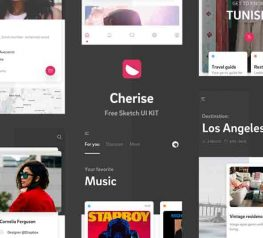 Cherise Free App Design UI Kit for Sketch Designers