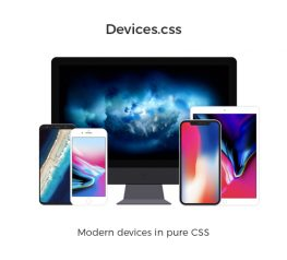 Devices.css Pure CSS Library for Web Designers and Developers