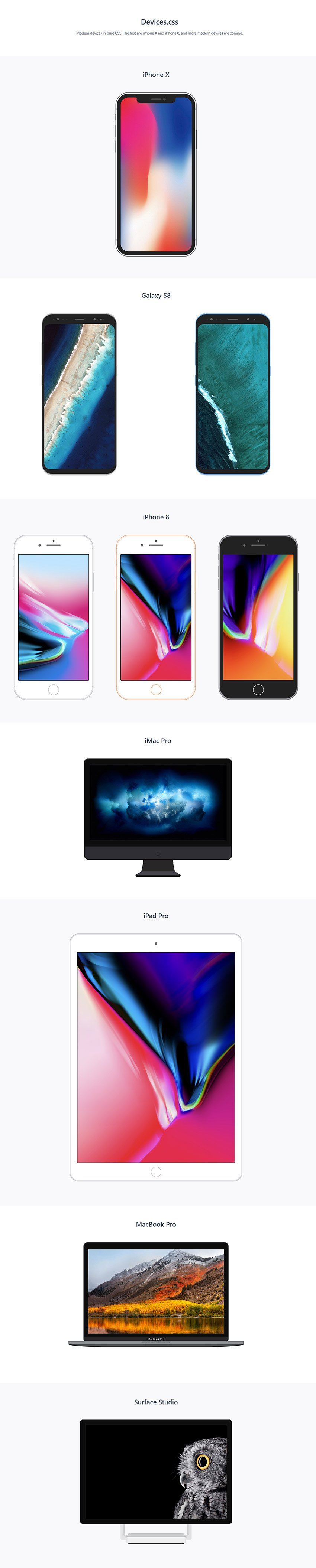 Devices.css Pure CSS Library for Web Developers