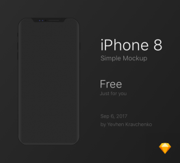 iPhone 8 Simple Free Mockup for Sketchapp