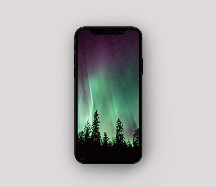 iPhone 8 Frontal Mockup PSD Download