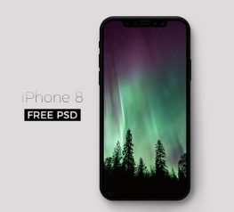 iPhone 8 Mockup Free PSD
