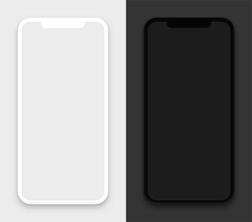 iPhone X Free Clay Mockup for Sketch