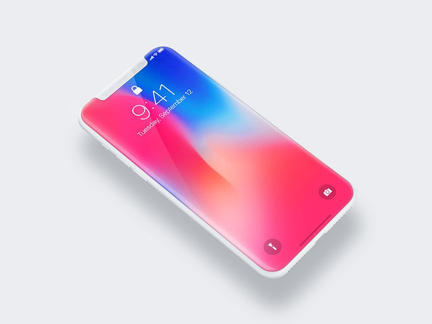 iPhone X Free Clay Mockup 3 PSD Download