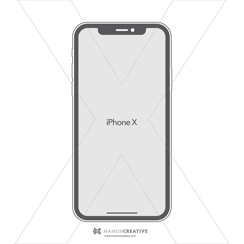 iPhone X Vector Free Mockup - EPS format