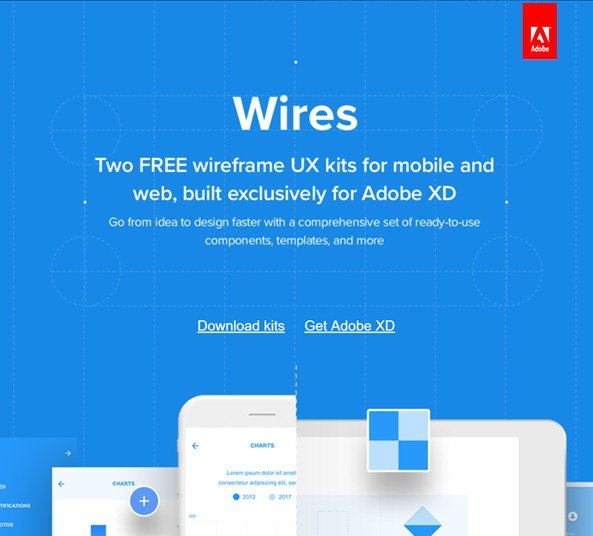Download Wires Wireframe Free UX Kit - Web & Mobile - FreebiesUI