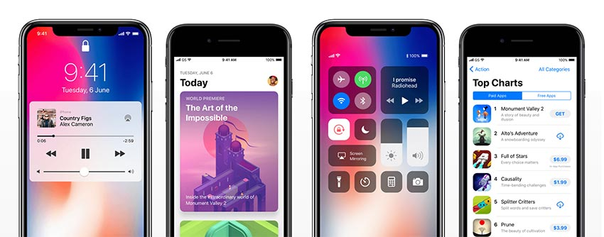 iOS 11 GUI for iPhone X, 8 - Figma and Sketch UI resource