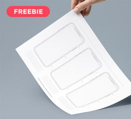 Free Printable iPhone X Template in PDF