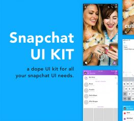 Snapchat UI Kit for Sketch users
