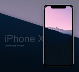 iPhone X Fre Vector Mockup for Figma Online