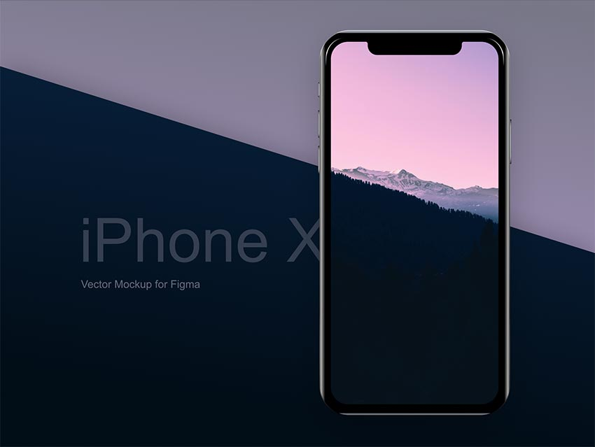 iPhone X Free Vector Mockup for Figma