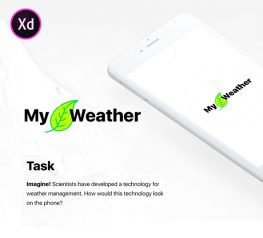 My Weather Adobe Xd UI Kit