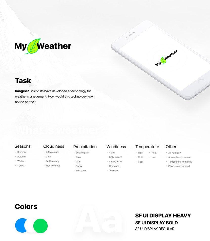 My Weather Adobe Xd App Design