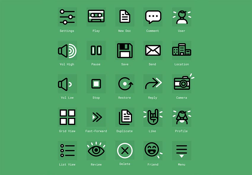 Figma Free Icon Set - 20 Free Icons