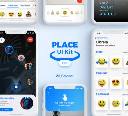 Place UI Kit for Sketch App - 22 Well-Designed Screens