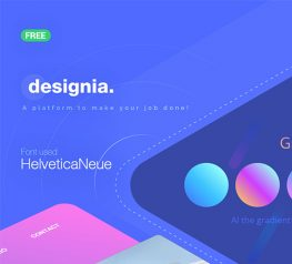 Designia Portfolio Web UI Template for Adobe Xd