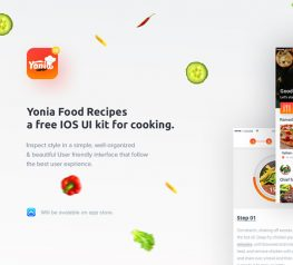 Yonia Food Recipes Free UI Kit