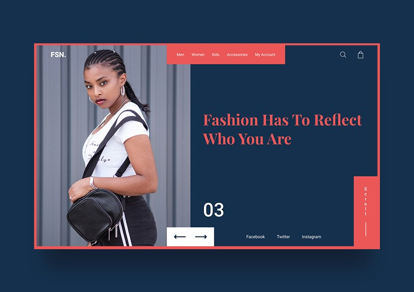 Fashion Free Web UI Kit for Figma