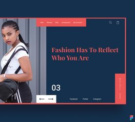 Fashion Free Web UI Kit for Figma - Free Design Asset