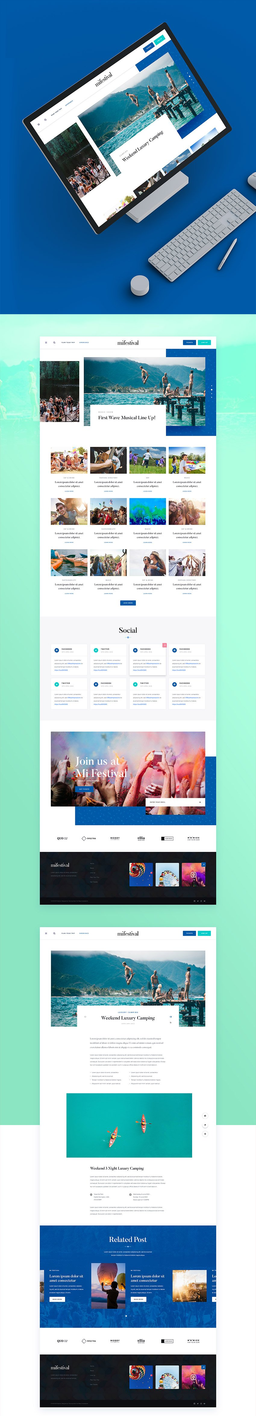 MI Festival Web Template for PSD