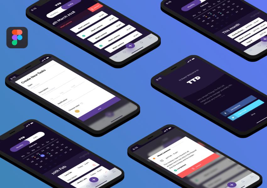 To Do App Design Concept for Figma