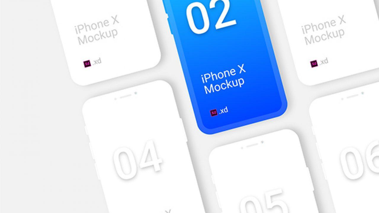 iPhone X Clay Mockup Free - 1125x2436 High Quality Adobe Xd