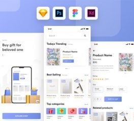 Kamartaj Gift Shop UI Kit for PSD, Sketch, Figma, Xd