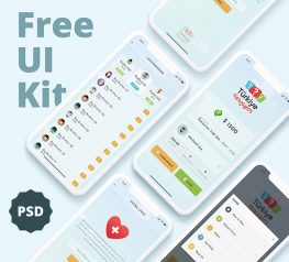 Mobile Game Free UI Kit for PSD - 4 Screens