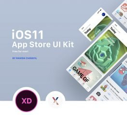 iOS 11 App Store UI Kit Freebie