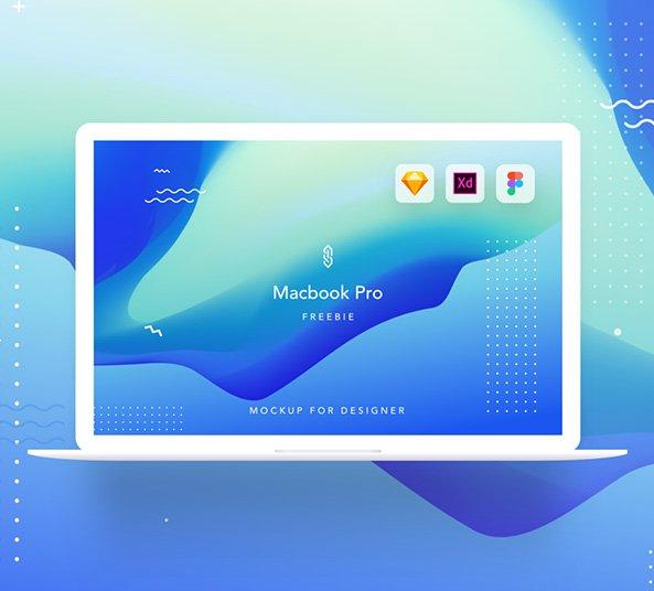 macbook pro free mockup - sketch  adobe xd and figma asset