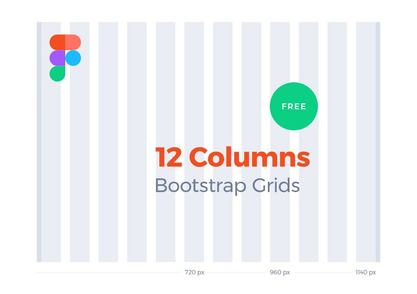 12 Columns Bootstrap Grids for Figma Designers