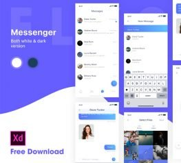 Messenger Chat App Design UI Kit for Adobe Xd - 6 Screens