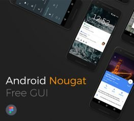 Android Nougat Free GUI for Figma Designers