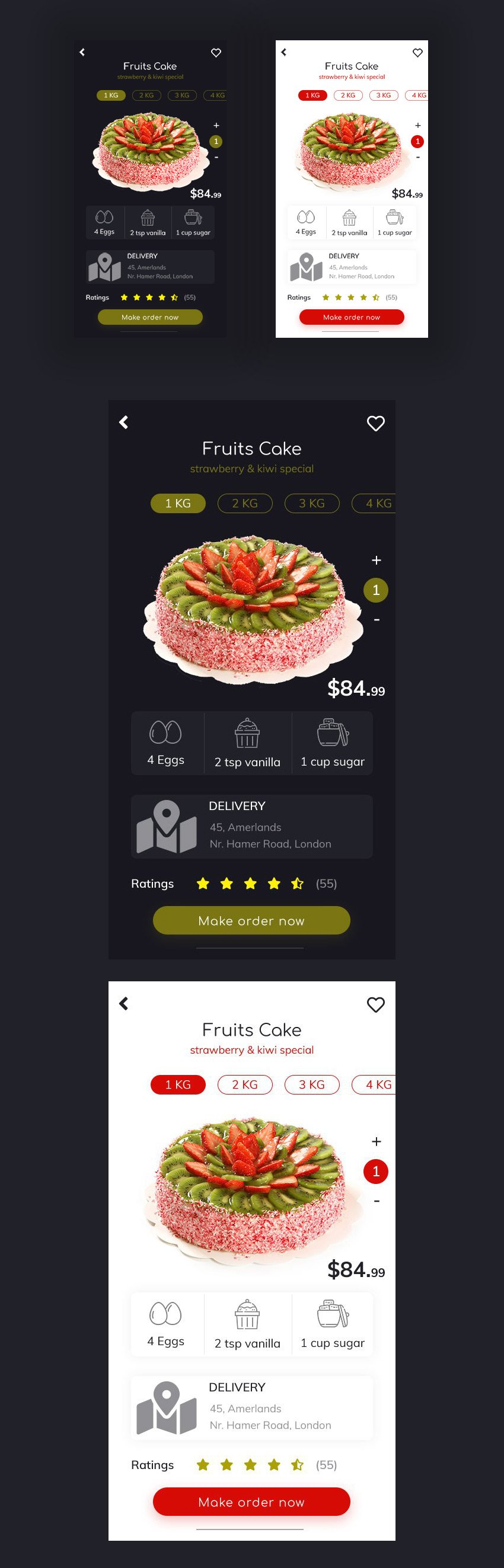 Bakery Food Shopping UI for Photoshop Designers - Free Download