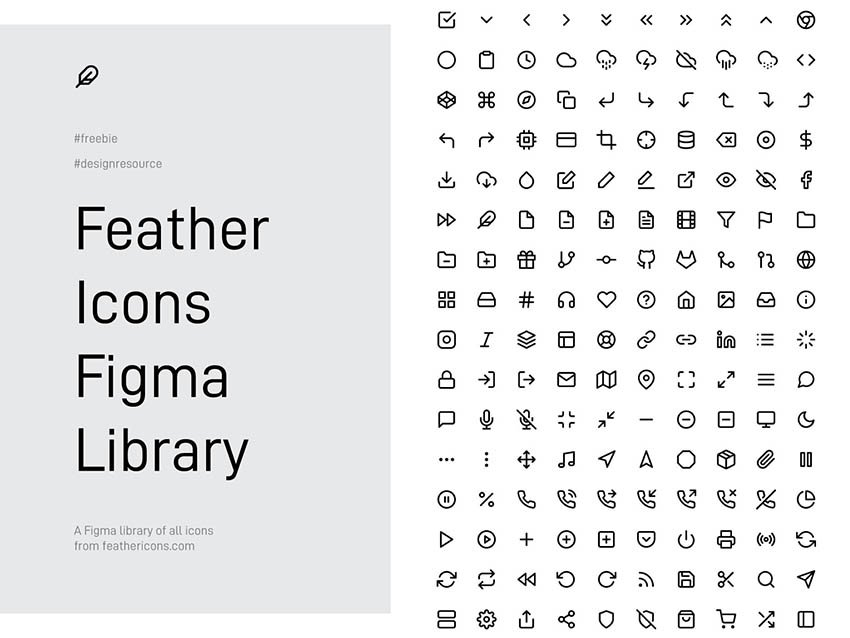 266 Feather Figma Icons - Free Download Library