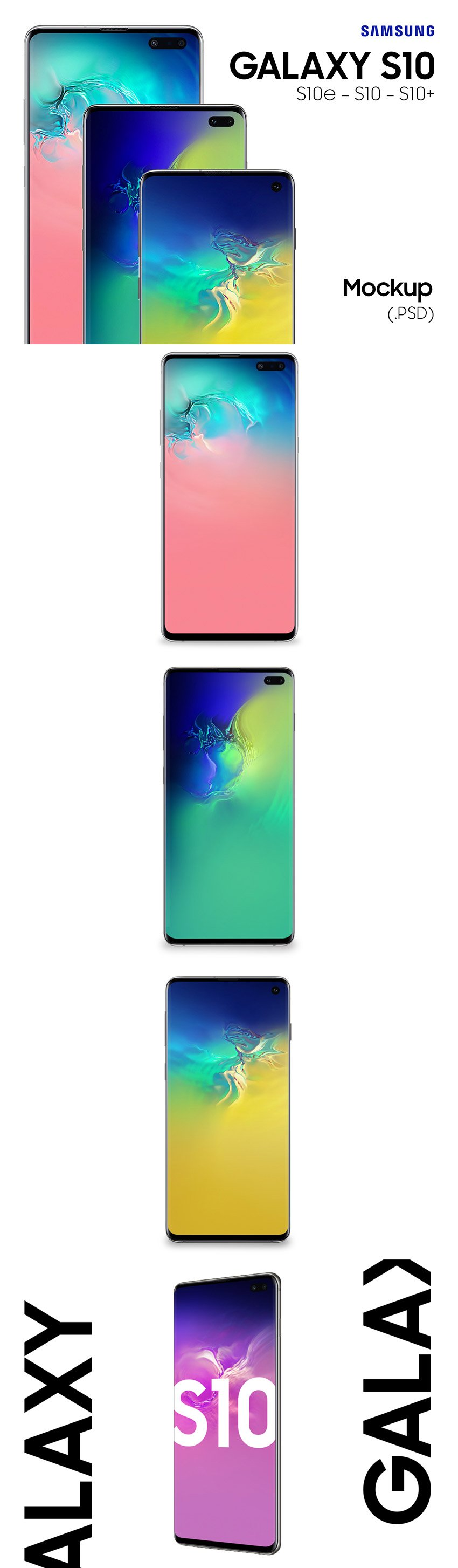 4 Galaxy S10 Free Mockups - Free Download