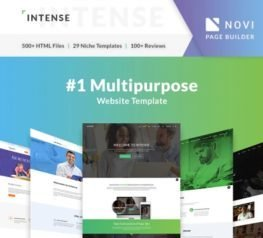 Intense Web Template - HTML & PSD Download