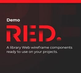 Figma Red Wireframe Kit - Free Download