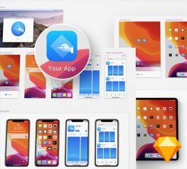 iOS 13 App Icon Template Free for Sketch