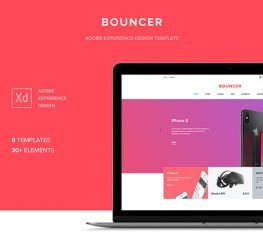 Bouncer Web Template UI Kit for Adobe Xd