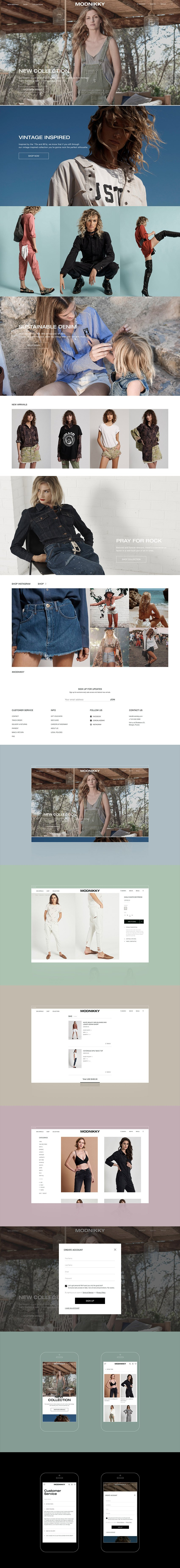 Modnikky eCommerce UI Web and Mobile Template for Figma