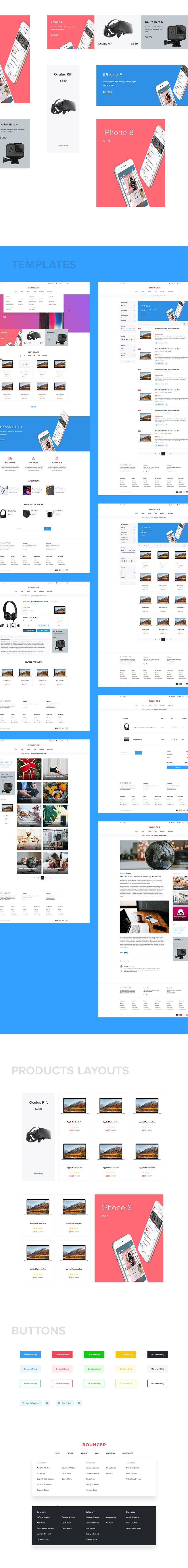 eCommerce Store UI design free - Xd template