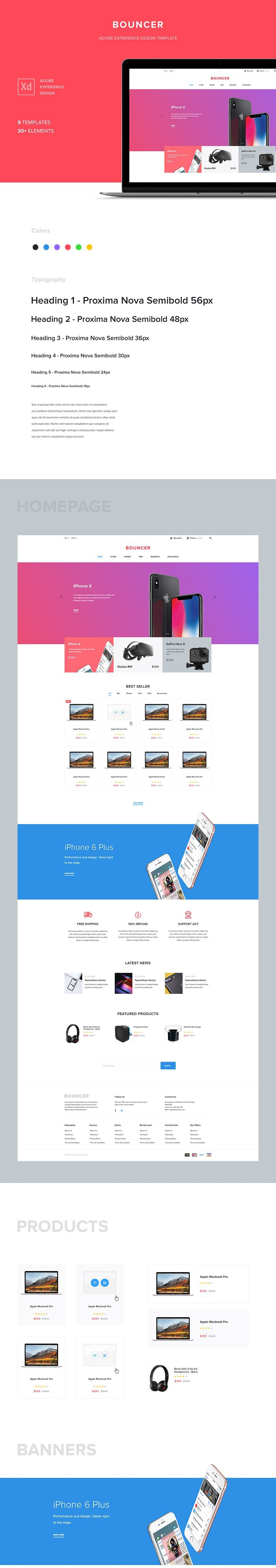 eCommerce Web Template for Technologies - Xd Design