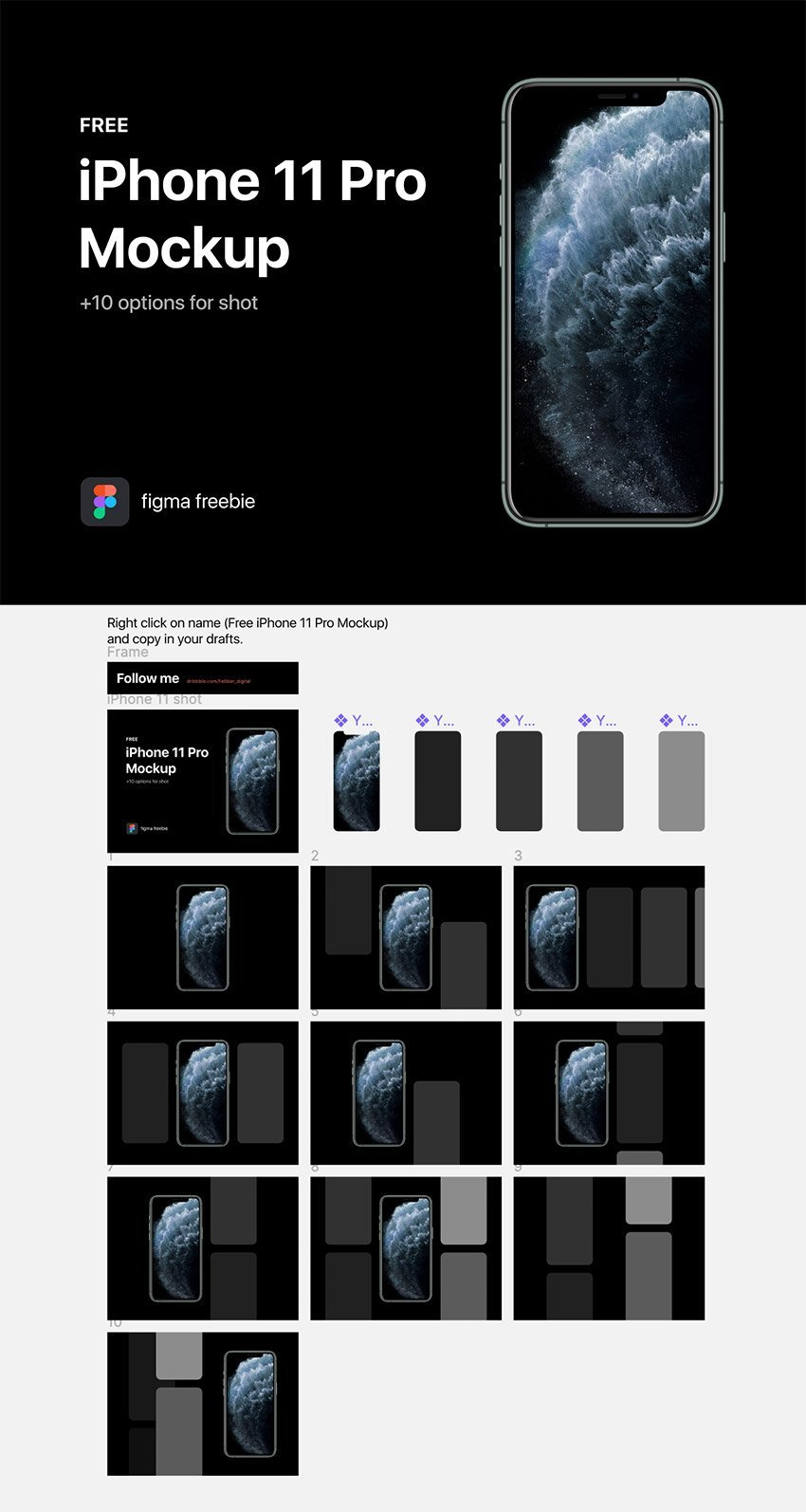 iPhone 11 Pro Mockup Free For Figma