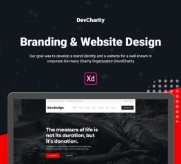 Free Charity Web Template for Adobe Xd